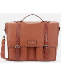 Ted Baker Finlie Leather Satchel Bag - Brown