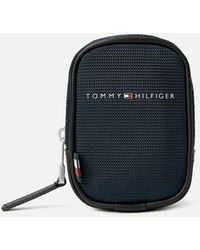 Tommy Hilfiger Elevated Nylon Clip Pouch - Blue