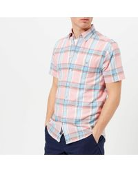 GANT - Indian Madras Short Sleeve Shirt - Lyst