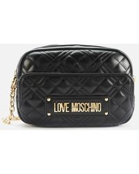 Love Moschino Quilted Camera Bag - Black