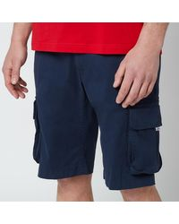 Tommy Hilfiger Washed Cargo Shorts - Blue