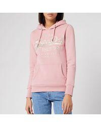 Superdry Premium Goods Luxe Hoodie - Pink