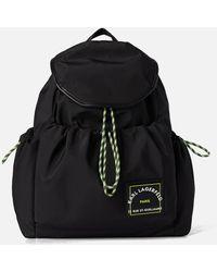 Karl Lagerfeld Rsg Patch Nylon Draw Backpack - Black