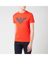 Emporio Armani Large Eagle T-shirt - Red