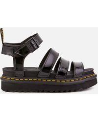 Dr. Martens - Blaire Patent Lamper Strappy Sandals - Lyst
