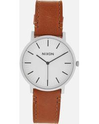 Nixon - Men's The Porter Leather Watch - Lyst