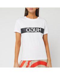 HUGO Datina Short Sleeve T-shirt - White