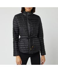 MICHAEL Michael Kors Belted Packable Puffer Jacket - Black