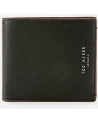 Ted Baker Trubee Leather Bifold Wallet - Black