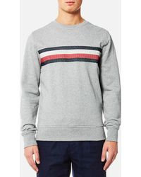 Tommy Hilfiger - Lake Embroidered Crew Neck Long Sleeve Knitted Jumper - Lyst