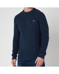 Tommy Hilfiger Essential Cable Sweater - Blue