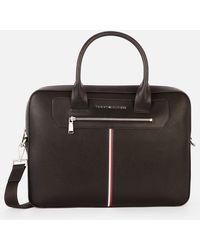 Tommy Hilfiger Downtown Super Slim Laptop Bag - Black