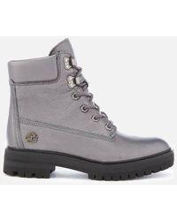 Metallic London Square 6 Inch Boots