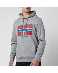 Napapijri Birol Flag Hoodie - Grey