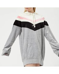 Juicy Couture - Colourblock Lightweight Velour Hooded Dress - Lyst