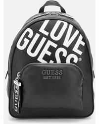 Guess Haidee Large Logo Backpack - Black