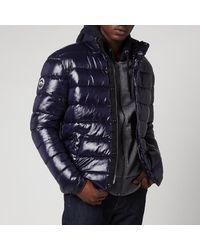Superdry High Shine Puffer Jacket - Blue