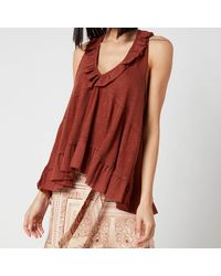 Free People Out And About Tank Top - Brown