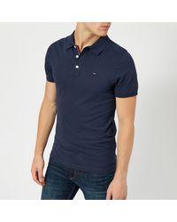 Tommy Hilfiger Original Fine Pique Polo Shirt - Blue
