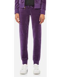 Juicy Couture Track Velour Zuma Trousers - Purple