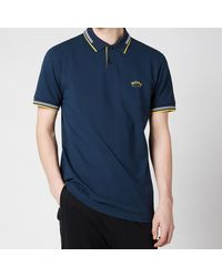 BOSS by Hugo Boss Boss Athleisure Paul Curved Logo Polo Shirt - Blue