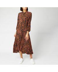 Whistles Amara Brushed Leopard Shirt Dress - Brown