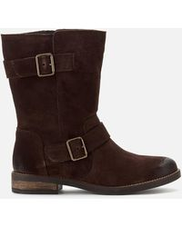 Clarks Demi Flow Biker Boots - Brown