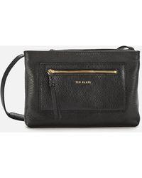 Ted Baker Calitaa Zip Detail Cross Body Bag - Black