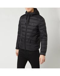 Armani Exchange Padded Hooded Jacket - Black