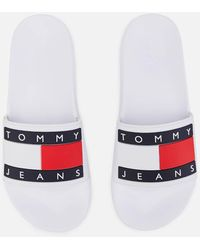 Tommy Hilfiger Tommy Flag Pool Sliders - White