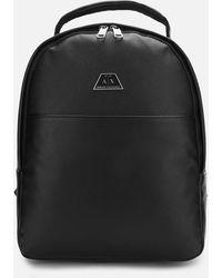 Armani Exchange Metal Logo Backpack - Black