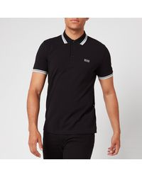 BOSS by HUGO BOSS Paddy Tipped Black Polo Shirt