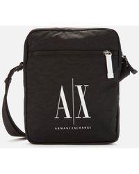 Armani Exchange Nylon Icon Logo Cross Body Bag - Black