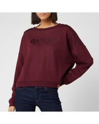 Guess Satin Logo Sweatshirt - Red