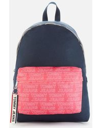 Tommy Hilfiger Logo Tape Dome Backpack - Multicolor