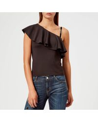 Guess - One Shoulder Betty Knitted Top - Lyst