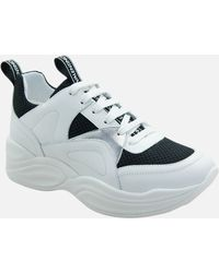Valentino Leather/suede Chunky Running Style Sneakers - White