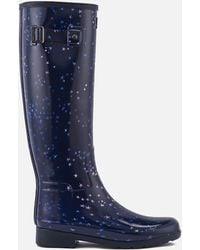 HUNTER - Refined Constellation Print Tall Wellies - Lyst