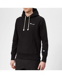 Champion Small Logo Hooded Sweatshirt - Black