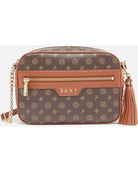 DKNY Polly Heritage Logo Camera Bag - Brown
