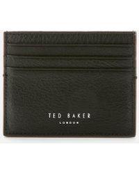 Ted Baker Cascade Leather Card Holder - Black