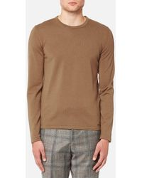 HUGO - San Paolo Crew Neck Wool Jumper - Lyst