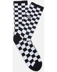 Vans Checkerboard Crew Socks - Black