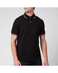 Tommy Hilfiger Core Tommy Tipped Polo Shirt - Black
