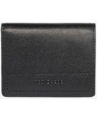 Ted Baker Papryca Saffiano Folded Cardholder - Black