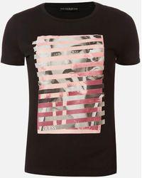 Guess Short Sleeve Rn Olga T-shirt - Black