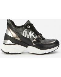 MICHAEL Michael Kors Mickey Chunky Running Style Sneakers - Black