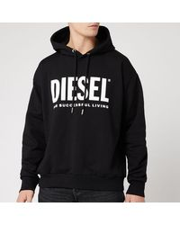 DIESEL Division Logo Hoodie - Black