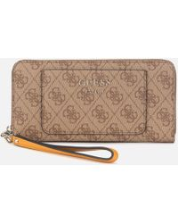 Guess - Kathryn Large Zip Around Wallet - Lyst