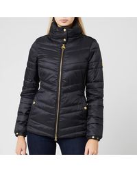 Barbour Aubern Funnel Neck Quilted Jacket - Black